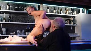Good barman on counter