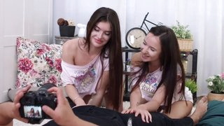Teen photo models share cock